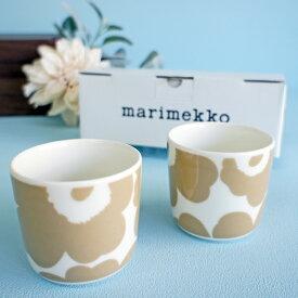 マリメッコ コーヒーカップ2個セット(ラテマグ) UNIKKO/BLONDE【店頭受取も可 吹田】