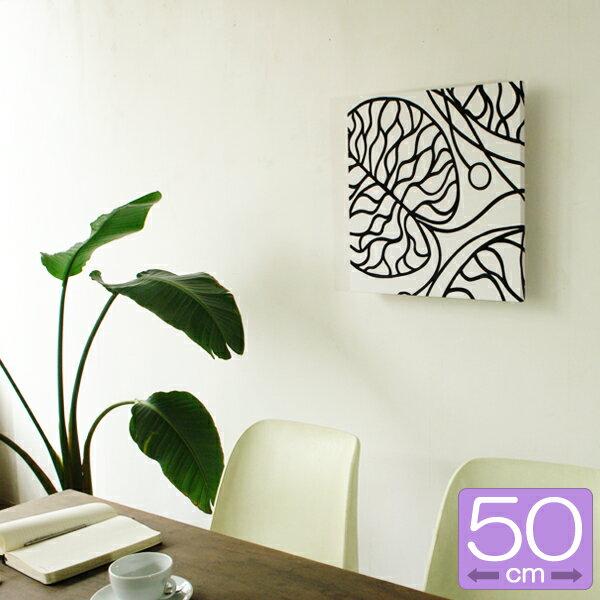 ファブリックパネル マリメッコ marimekko BOTTNA/WHITE 50×50cm