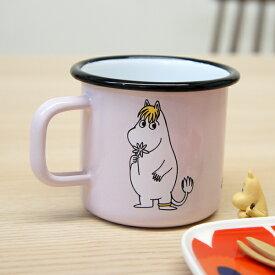 ムーミン×ムールラ ホーロー マグカップ スノークのおじょうさん/ピンク【店頭受取も可 吹田】