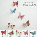 蝶マグネット(バタフライ磁石) 透明感のあるステンドタイプ