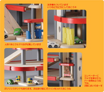 PlanCityパーキングガレージ。人形1体とクルマ1台付属