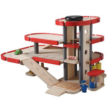 木のおもちゃプラントイPlanCityパーキングガレージ