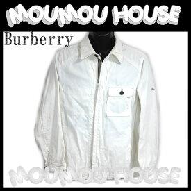【送料無料】Burberry■バーバリーブラックレーベルジャケット■アイボリー■メンズ【A-B】【中古】【アパレル】