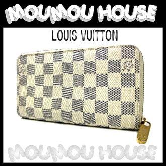 Louis Vuitton ダミエアズール ■ zipper wallet purse ■ N60019 ♪ Vuitton Louis Vuitton Louis Vuitton Vuitton long wallet LV unisex LOUIS VUITTON