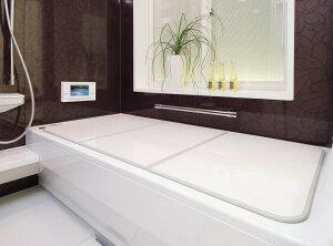 送料無料(北海道・東北・沖縄・離島以外) 東プレ 組み合わせ風呂ふた L11 センセーション(3枚割)75×110cm ホワイト/ホワイト