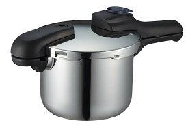 送料無料(北海道・東北・沖縄・離島以外) パール金属 クイックエコ 3層底切り替え式圧力鍋 3.5L H-5040