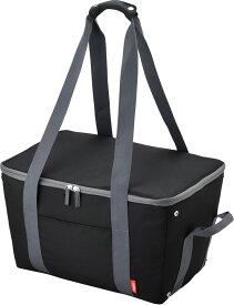 送料無料(北海道・東北・沖縄・離島以外)サーモス 保冷 買い物カゴ用バッグ 約25L ブラック REJ-025 BK レジカゴバック