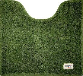 3000円以上送料無料(北海道・東北・沖縄・離島以外) オカトー  トイレマット 55×60cm グリーン カラーモードプレミアム