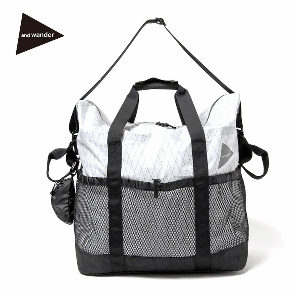 and wander(アンドワンダー)X-Pac 45L tote bag (white)(AW-AA624)