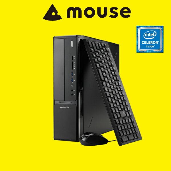 【送料無料】マウスコンピューター デスクトップパソコン 《 LM-iHS320E-MA-SD 》 【 Windows 10 Home/インテル Celeron プロセッサー G3930/8GB メモリ/1TB HDD/マカフィー/WPS Office(旧KINGSOFT Office)付き 】《新品》