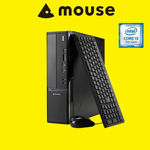 【送料無料】マウスコンピューター デスクトップパソコン 《 LM-iHS320B-MA-SD 》 【 Windows 10 Home/Core i3-7100 プロセッサー/8GB メモリ/1TB HDD/マカフィー/WPS Office Standard(旧キングソフトオフィス)付き 】《新品》