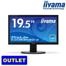 モニター iiyama ProLite E2083HSD-2 19.5型 ワイド液晶 ディスプレイ 【1600×900/ワイド/ブルーライトカット/応答速度5ms/5000000:1(最大)】<アウトレット>