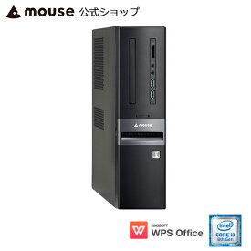 【スマホエントリーでポイント10倍】【ポイント10倍♪】LM-iHS410BN-MA デスクトップ パソコン Core i3-8100 4GB メモリ 1TB HDD WPS Office付き mouse マウスコンピューター PC BTO 新品