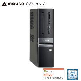 LM-iHS410XN-S2H2-MA-AB デスクトップ パソコン Windows10 Core i7-9700 16GBメモリ 256GB M.2 SSD 2TB HDD Microsoft Office付き mouse マウスコンピューター PC BTO 新品