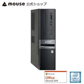 【エントリーでポイント7倍♪7/26 2時まで】【ポイント10倍♪】LM-iHS410XD-SH-MA-AP デスクトップ パソコン Core i7-9700 8GB メモリ 120GB SSD 1TB HDD Microsoft Office付き mouse マウスコンピューター PC BTO 新品