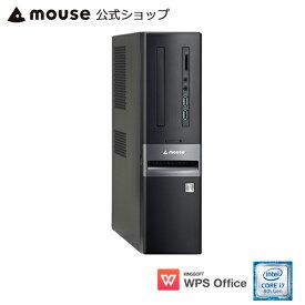 【エントリーでポイント7倍♪】【ポイント10倍♪】LM-iHS410XD-SH-MA デスクトップ パソコン Core i7-8700 8GB メモリ 120GB SSD 1TB HDD WPS Office付き mouse マウスコンピューター PC BTO 新品