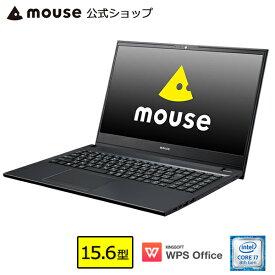【エントリーでポイント7倍♪】【ポイント5倍♪】ノートパソコン office付き 新品 mouse F5-i7-MA パソコン 15.6型 Windows10 Core i7-8565U 8GB メモリ 256GB SSD 1TB HDD DVDドライブ WPS Office付き mouse マウスコンピューター PC BTO
