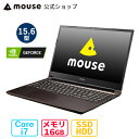 mouse K5-MA 15.6型 Core i7-10750H 16GB メモリ 256GB M.2 SSD 1TB HDD GeForce MX350 ノートパソコン 新品 mouse マ…