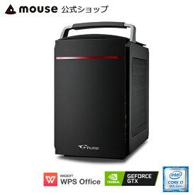 【7/4 20:00〜エントリーでポイント7倍】G-Tune PL-B-1660 ゲーミングPC eスポーツ デスクトップ パソコン Core i7-9700 8GB メモリ 256GB M.2 SSD(NVMe) 1TB HDD GeForce GTX1660 WPS Office付き mouse マウスコンピューター PC BTO 新品