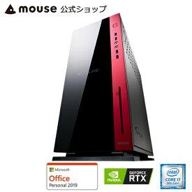 【スマホエントリーでポイント10倍】MP-i1640SA1-M2SH2-MA-AP ゲーミングPC ゲーム用 デスクトップ パソコン Core i7-9700K 16GB メモリ 256GB M.2 SSD NVMe対応 2TB HDD GeForce RTX 2060 DVDドライブ Microsft Office付き マウスコンピューター PC BTO 新品