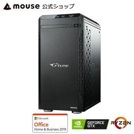 G-Tune PM-A-1660 ゲーミングPC eスポーツ デスクトップ パソコン AMD Ryzen 7 3700X 8GB メモリ 512GB M.2 SSD GeForce GTX 1660 SUPER Microsoft Office付き mouse マウスコンピューター PC BTO 新品