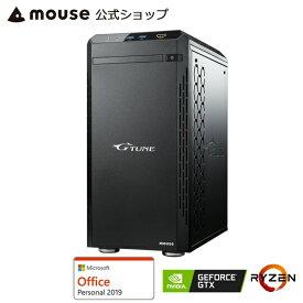 G-Tune PM-A-1660ゲーミングPC eスポーツ デスクトップ パソコン AMD Ryzen 7 3700X 8GB メモリ 512GB M.2 SSD GeForce GTX 1660 SUPER Microsoft Office付き mouse マウスコンピューター PC BTO 新品