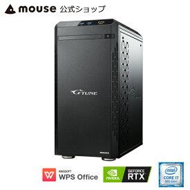 【7/4 20:00〜エントリーでポイント7倍】G-Tune EM-B-2060Super ゲーミングPC eスポーツ デスクトップ パソコン Core i7-9700 16GB メモリ 512GB M.2 SSD(NVMe) 1TB HDD GeForce RTX2060 Super WPS Office付き mouse マウスコンピューター PC BTO 新品