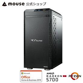 G-Tune EM-A-RX5700 ゲーミングPC eスポーツ デスクトップ パソコン AMD Ryzen 7 3700X 16GB メモリ 256GB M.2 SSD 1TB HDD AMD RX5700 Microsoft Office付き mouse マウスコンピューター PC BTO 新品