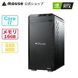 G-Tune XM-B-MA ゲーミングPC デスクトップ パソコン Core i7-10700 16GB メモリ 512GB M.2 SSD 2TB HDD GeForce RTX3070 mouse マウスコンピューター PC BTO 新品