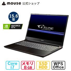 G-Tune P5-MA ゲーミングPC 15.6型 Core i7-10750H 8GB メモリ 256GB M.2 SSD(NVMe) 1TB HDD GeForce GTX1650 ノートパソコン WPS office付き 新品 マウスコンピューター BTO【GN】