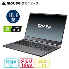 【マラソン期間中★7%OFFクーポン対象】DAIV 5N-MA 15.6型 Core i7-10870H 16GB メモリ 1TB M.2 SSD GeForce RTX3060 ノートパソコン 新品 mouse マウスコンピューター PC BTO