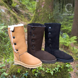 Celtic セルティック ムートン ブーツ POPPER カーフ 英国製 送料無料 ブランド 靴 ケルティック シープスキン ブーツ otonashoes_d19