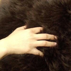 [送料無料]AUSKIN長毛ムートンスツールキューブCUBE46×46アイボリー・シナモン・ビターチョコの3色