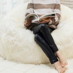 [送料無料]AUSKIN長毛ムートンビーズクッションビーンバッグBEANBAGS92×93アイボリー・シナモン・ビターチョコの3色