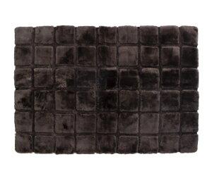 AUSKINムートンデザインラグ 【 ムートンカーペット・マット 】 キューブ CUBE 120×180 ビターチョコ【お手入れブラシプレゼント】