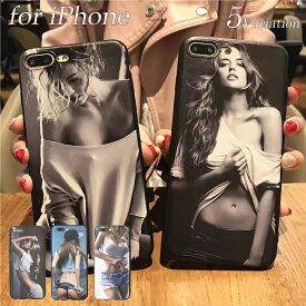 オシャレなセクシーガール iPhoneケース iPhoneX iPhone8 iPhone7 iPhone6 iPhone6s iPhone5/5s iPhoneSE アイフォンx アイフォン8 アイフォン7 ケース かわいい 海外 韓国 TPU おしゃれ カバー ガール セクシー スマホケース グラマー モデル 大人 レディース メンズ