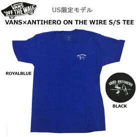 VANS Tシャツ メンズ バンズ US限定モデル VANS×ANTIHERO ON THE WIRE S/S TEE バンズxアンタイヒーロー Tシャツ メール便配送