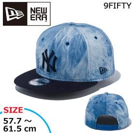 帽子 キャップ cap メンズ レディース ニューエラ NEW ERA 9FIFTY ニューヨーク・ヤンキース TieDyeDenim タイダイデニム インディゴ あす楽