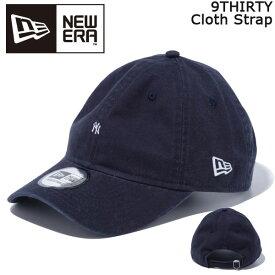 帽子 キャップ cap メンズ レディース ニューエラ NEW ERA 9THIRTY Cloth Strap ニューヨーク・ヤンキース マイクロロゴ ネイビー あす楽