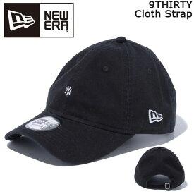 帽子 キャップ cap メンズ レディース ニューエラ NEW ERA 9THIRTY Cloth Strap ニューヨーク・ヤンキース マイクロロゴ ブラック あす楽