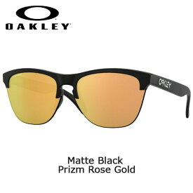 【ポイントアップデー】/オークリー サングラス フロッグスキン ライト OAKLEY FROGSKINS LITE Matte Black Prizm Rose Gold oky-sun
