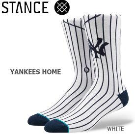 野球メジャーリーグ コラボ メンズ ソックス スタンス STANCE YANKEES HOME 靴下 ベースボール スポーツ オシャレ stc-fair メール便配送 【50SP】