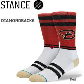 野球メジャーリーグ コラボ メンズ ソックス スタンス STANCE DIAMONDBACKS 靴下 ベースボール スポーツ オシャレ stc-fair メール便配送 【50SP】