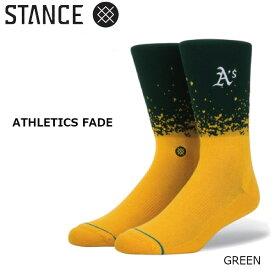 【BUY2GET1キャンペーン開催中】/ 野球メジャーリーグ コラボ メンズ ソックス スタンス STANCE ATHLETICS FADE 靴下 ベースボール スポーツ オシャレ stc-fair