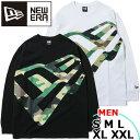 アパレル カジュアル ロングTシャツ メンズ ニューエラ NEW ERA コットン 長袖 ズームアップフラッグロゴ L/S Cotton …