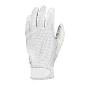 野球 バッティング手袋 一般用高校野球対応 NIKE ナイキ ハラチ エッジ 両手用 ホワイト メール便配送