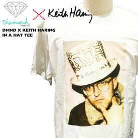 【ストアポイントアップデー】/Tシャツ ダイアモンド×キースヘリング コラボ 半袖 DMND X KEITH HARING IN A HAT TEE スケート DIAMOND SUPPLY CO. 人気 SK8 限定 メール便配送