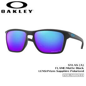オークリーサングラス オークリー サイラス OAKLEY SYLAS (A) サングラス フレーム:Matte Black レンズ:Prizm Sapphire Polarized アジアンフィット あす楽