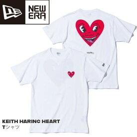 カジュアル Tee ニューエラ NEW ERA KEITH HARING HEART キースへリング Tシャツ ホワイト メール便配送