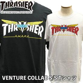 スラッシャー THRASHER VENTURE COLLAB S/S Tシャツ ベンチャーXスラッシャー コラボ メール便配送